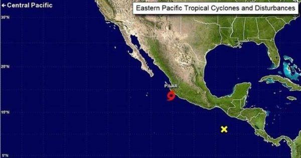 """Tormenta tropical """"Pilar"""" llega con fuertes lluvias a las costas de Jalisco, Nayarit y Sinaloa"""