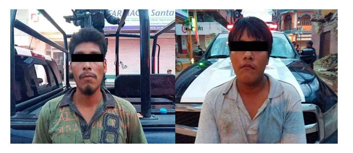 Detiene Policía Federal a dos saqueadores en Juchitán