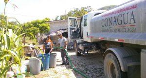 Distribuye Conagua más de 4 millones de litros de agua potable para familias istmeñas