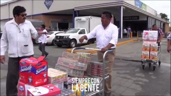Davila desprecia al comercio de Tuxtepec, compra víveres en Sams