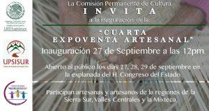 Cuarta expoventa artesanal, mostrará lo mejor de la sierra sur, valles centrales y la mixteca en el Congreso local