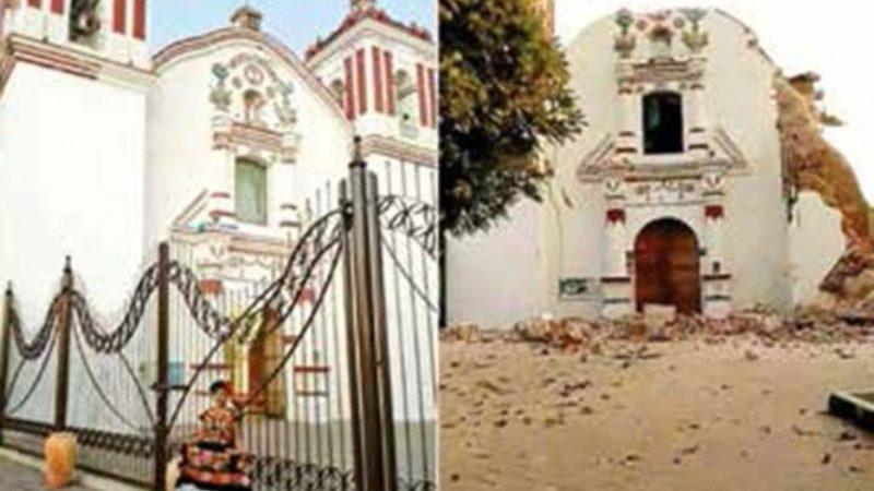 Sismo fisura patrimonio en Juchitán