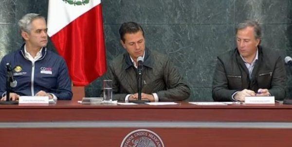 Tarea de búsqueda y rescate ha concluido: Peña Nieto