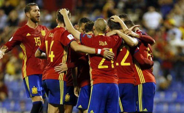 España se califica al Mundial de Rusia 2018