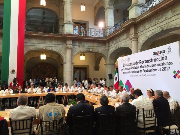 Gobierno de Oaxaca, anuncia estrategia de reconstrucción para comunidades afectadas por sismos