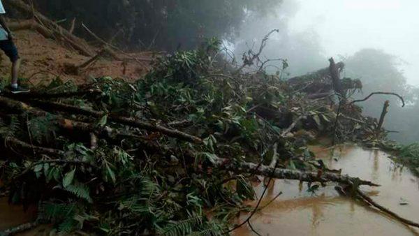Mujer muere tras desgajarse un cerro en Oaxaca