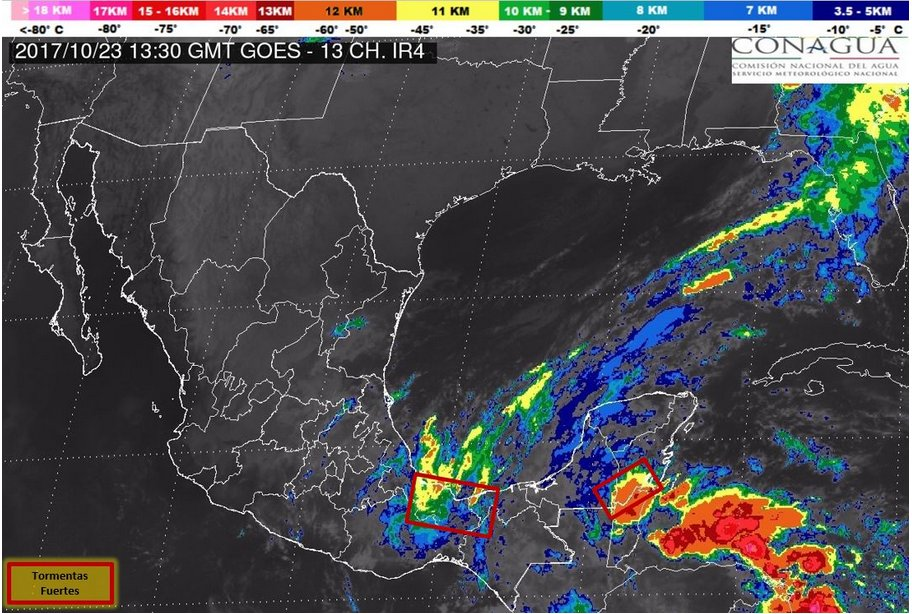 Frente frío y tres ondas tropicales favorecerán lluvias en el país