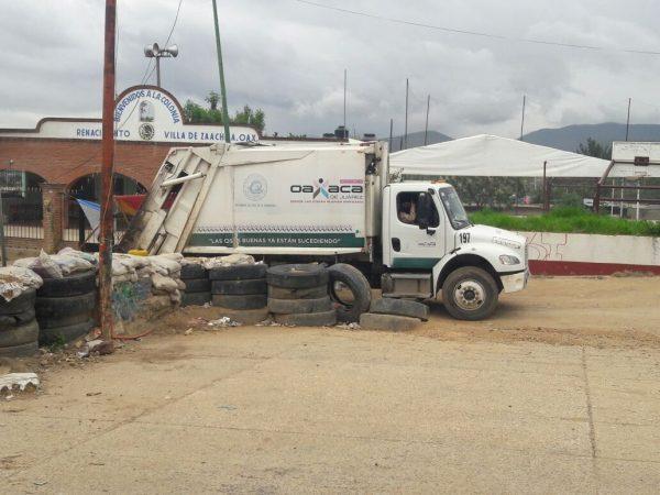 Retiran bloqueo de basurero municipal en Zaachila