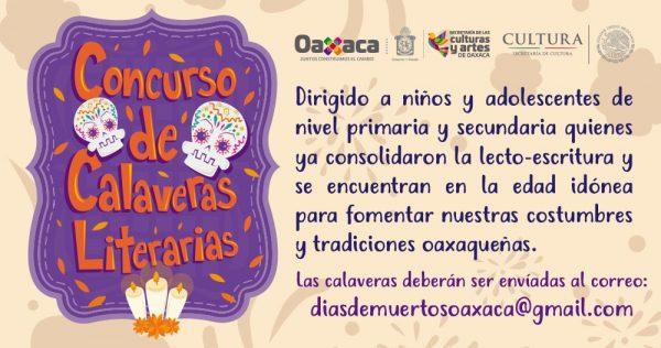"Invita Seculta a participar en concurso de ""Calaveras Literarias"""