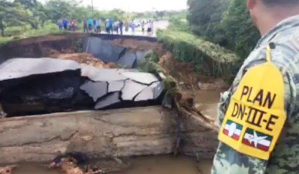 Colapsa la carretera Tuxtepec-Loma Bonita