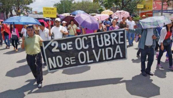 Se movilizará Sección 22 para recodar la matanza del 2 de octubre