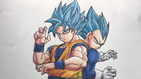 """Mira el boceto original del """"Super Saiyajin Blue"""" de Dragon Ball Super"""