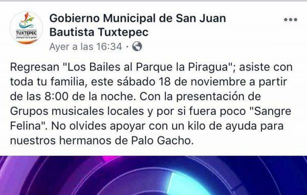 """Davila """"justifica"""" bailes de la piragua con ayuda a Palo Gacho"""