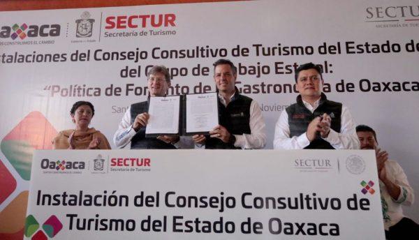 Refrendan AMH y EMC compromiso para apuntalar desarrollo turístico de Oaxaca