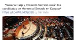 Desmiente Susana Harp a Morena, no le interesa participar para el Senado