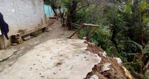 Se desliza la tierra en la Mixteca