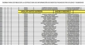 Evade Regidora, informar sobre apoyo de 60 mil pesos