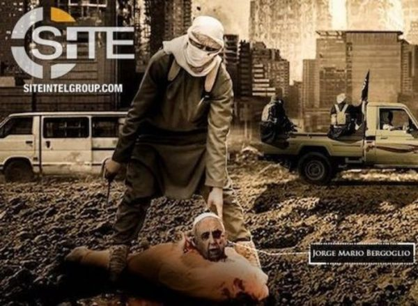 Estado Islámico publica imagen del Papa decapitado