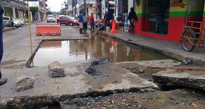 -Actualizada- Sin agua gran parte del casco urbano, por socavón