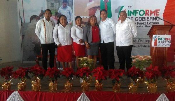 Rinde presidenta de Chiltepec, primer informe de gobierno