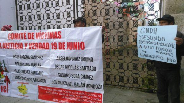 Rechaza Comité de Víctimas de Nochixtlán recomendaciones de CNDH
