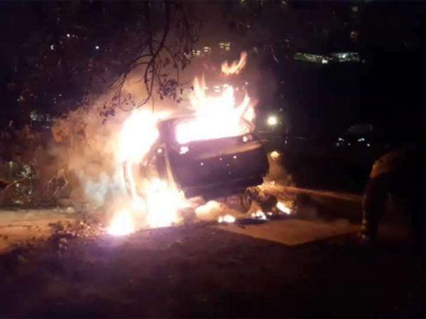 Muere calcinado al chocar en la autopista México-Toluca