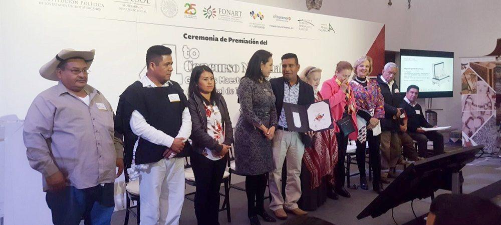 """Artesanía oaxaqueña obtiene """"Premio a la Mejor Pieza"""" en Concurso Nacional"""