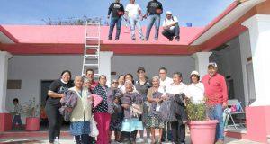 Ivette Morán de Murat encabeza tequio en Casa de Día de San Andrés Zautla