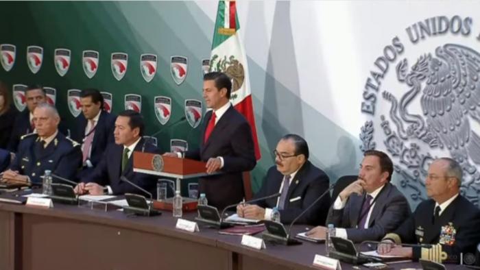 Peña promulga la Ley de Seguridad Interior