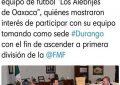 Alebrijes de Oaxaca le coquetea a Durango