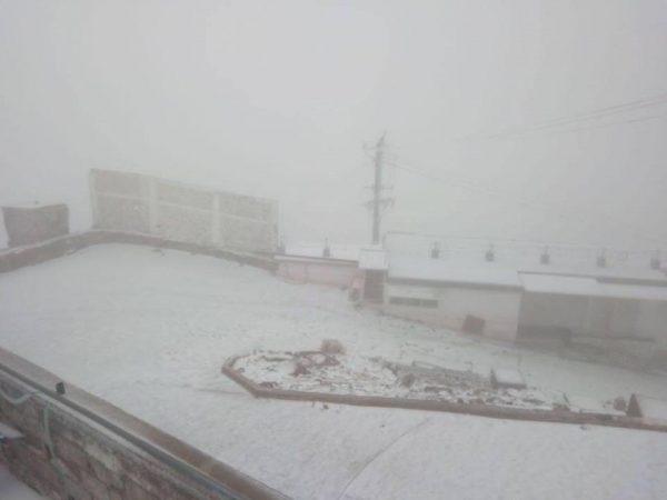 Cae primera nevada del año en el Cofre de Perote Veracruz