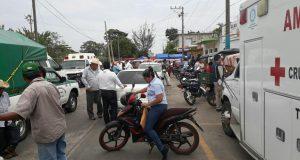 Transportistas bloquean SEVITRA en Tuxtepec
