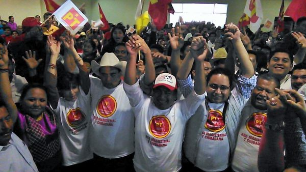 """El PT manda mensaje a Morena y PES, """"en el distrito somos la primera fuerza"""""""