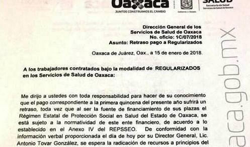 De mil 700 mdp, déficit en servicios de salud de Oaxaca