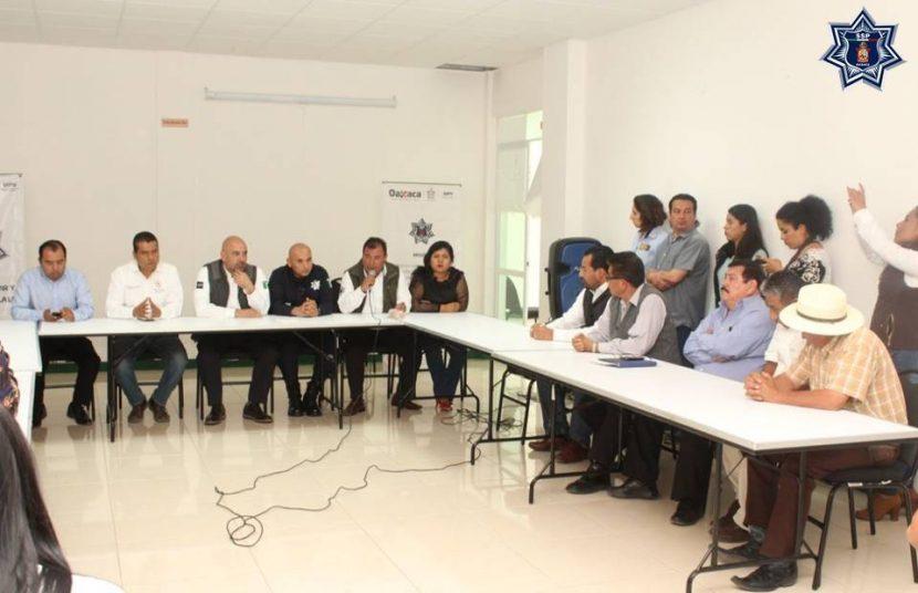 Acuerdan estrategias de seguridad en la región Mixteca