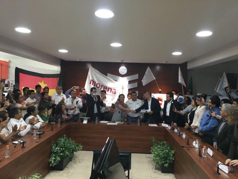 """Entregan Morena, PES y PT al IEEPCO, solicitud de registro de coalición """"Juntos Haremos Historia"""""""