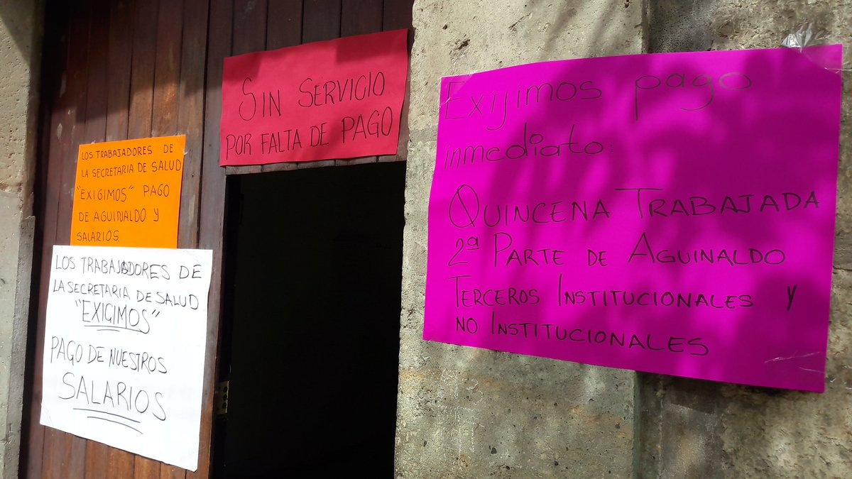 Continúa paro parcial en los Servicios de Salud de Oaxaca