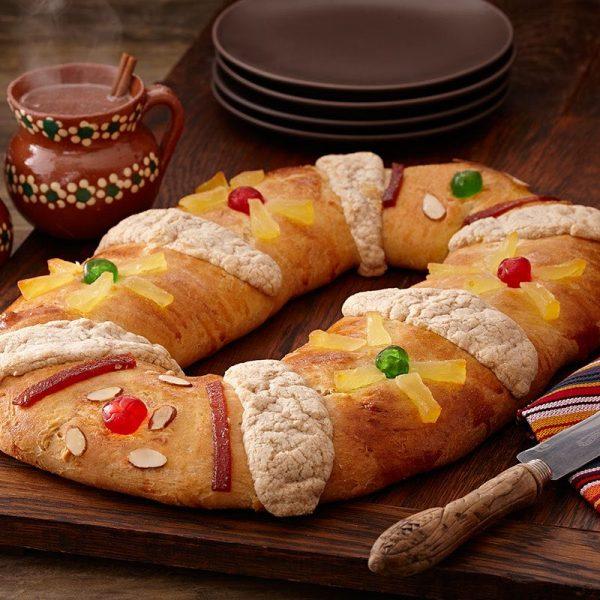 Ingredientes de la Rosca de Reyes, con alto valor nutricional.
