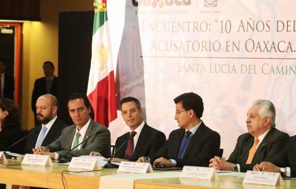 Oaxaca, referente nacional en la implementación del Sistema de Justicia Penal Acusatorio: AMH