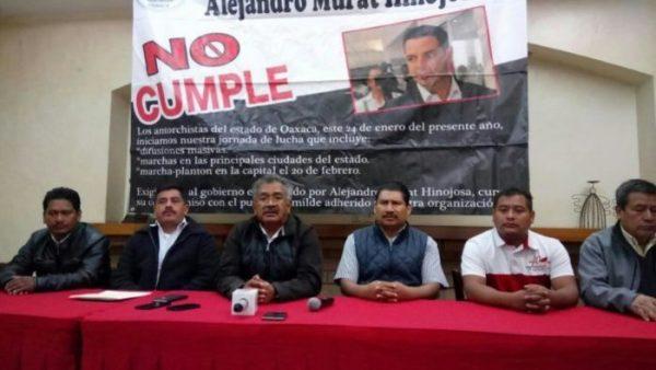 Antorcha Campesina advierte más movilizaciones; acusa incumplimiento de Murat