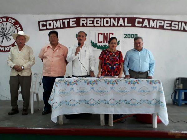 Soledad Ruiz sustituye a Filogonio Santos en la CNC Tuxtepec