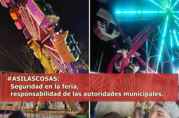 #ASILASCOSAS/ La seguridad en la Feria, responsabilidad de las autoridades municipales