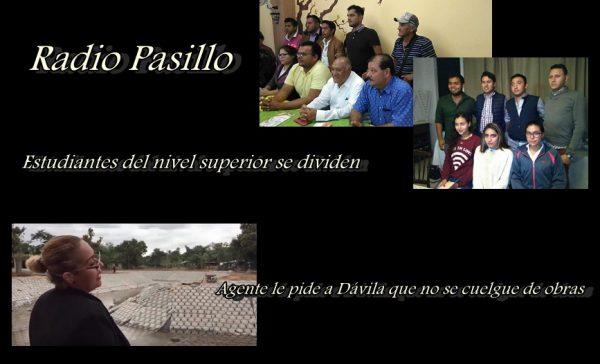 Radio pasillo: Estudiantes del nivel superior se dividen / Agente le pide a Dávila que no se cuelgue de obras