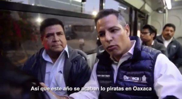 #ASILASCOSAS/ Murat promete acabar este año con el transporte pirata en Oaxaca, ¿Será?