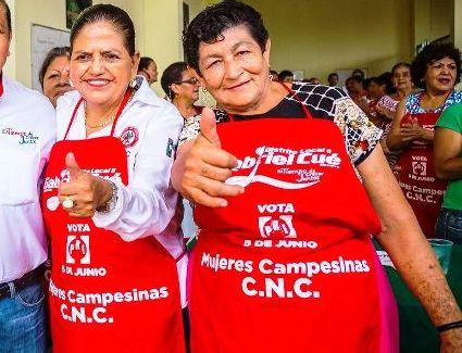 El PRI necesita candidatos humildes como Dávila, afirma la nueva presidenta de la CNC en Tuxtepec