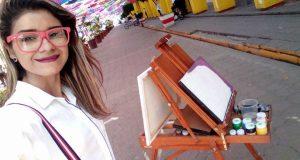 Conoce a Isabela Amos, pintora Tuxtepecana