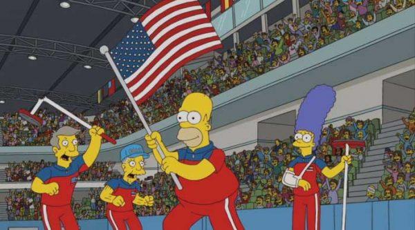 Los Simpsons predijeron el oro olímpico de EUA en curling