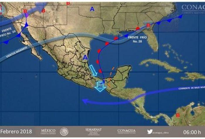 Prevén lluvias muy fuertes en Oaxaca y Veracruz