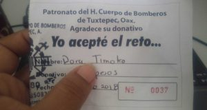 Bomberos de Tuxtepec, lanza reto para poder comprar vehículo