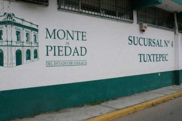 A pesar de regreso a clases, sin repuntar empeños en el monte de Piedad de Tuxtepec
